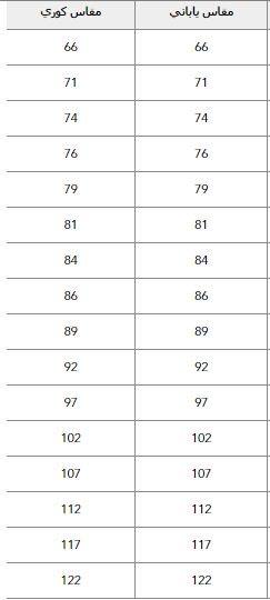 قياسات بناطيل American Eagle الدولية للرجال