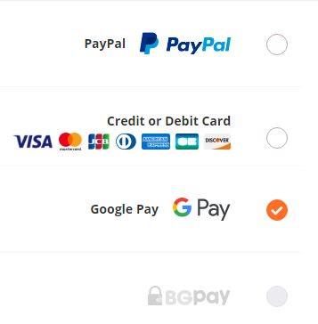 طرق الدفع على موقع banggood
