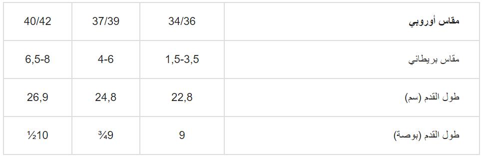 قياسات جواربH&M الاطفال